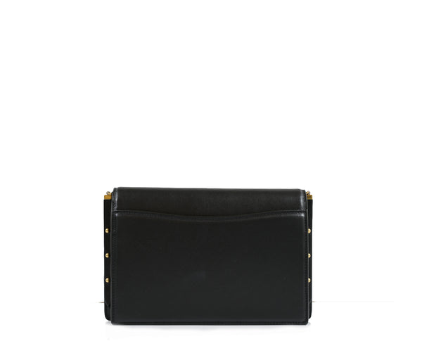 Saint Laurent Black Leather Zoe Shoulder Bag