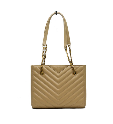 Saint Laurent Small Leather Tribeca Bag Nude Powder 45688651