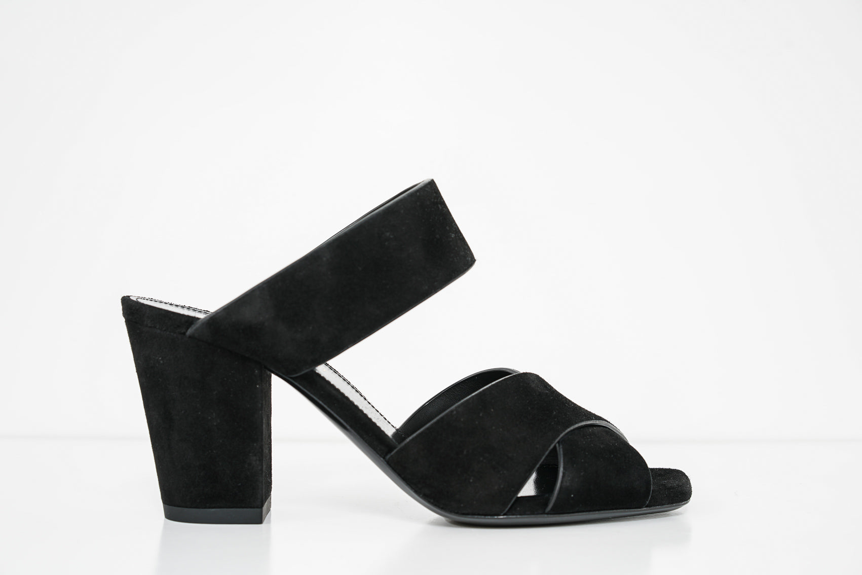 Saint Laurent Black Suede Oak Sandal 566643