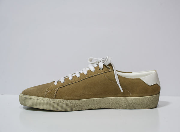 Saint Laurent Men's Desert Suede Logo Sneakers 409209