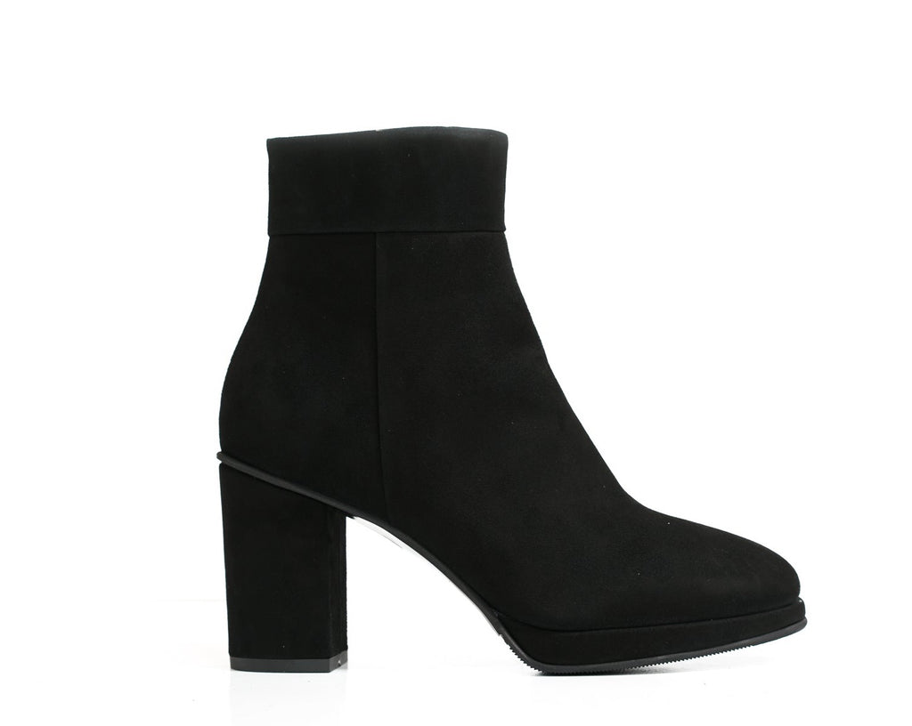 Stefano Stefani BLACK Suede Ankle Boot 7129
