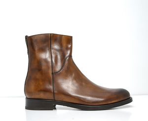 Stefano Stefani Men's Brandy Leather Ankle Boot 5607