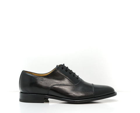 Stefano Stefani Men's Black Leather Lace Up Shoe 8610E