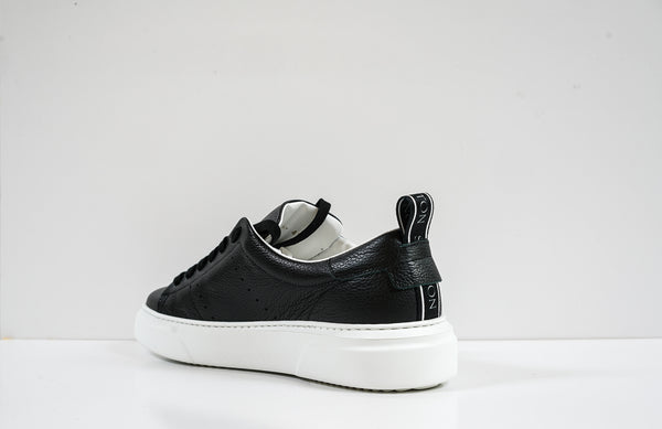 Stokton Men's Black Leather Sneaker Bubka.