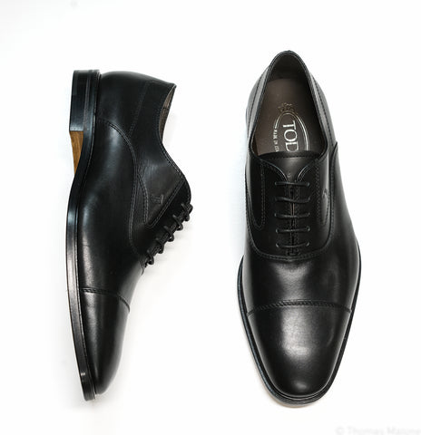 Tod's Men's Black Leather Lace Up Shoe MOKYOON5