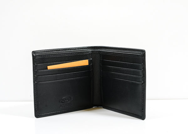Tod's Men's Black Leather Wallet XAMAM300