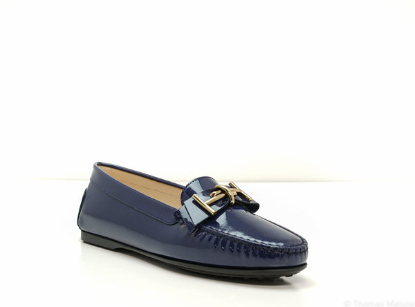 Tod's Women's Blue Patent Moccasin 0W0