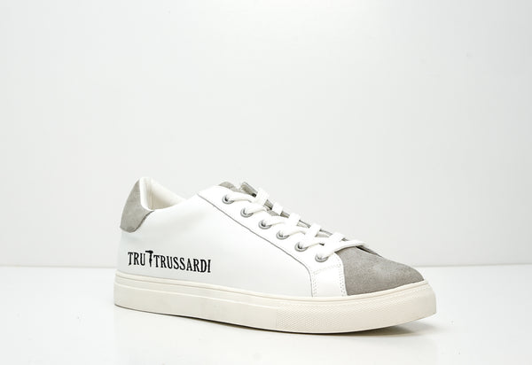 Trussardi Men's Grey & White Sneakers E694