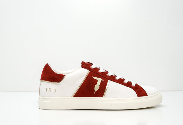 Trussardi Men's Red, Gold & White Leather Sneakers U767