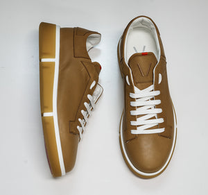 V Design Men's Tan Leather Sneaker Radical Man SMA5