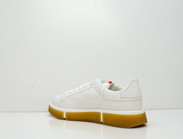V Design Men's White Leather Sneaker Radical Man SMRM1