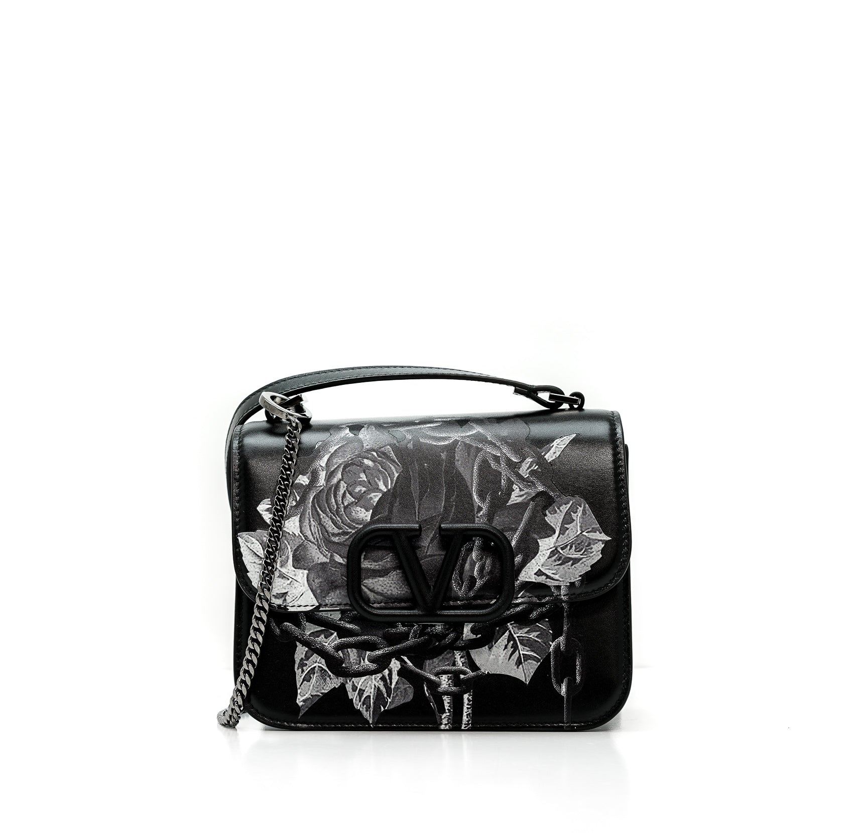 Valentino Black Rose Bag F01DAI