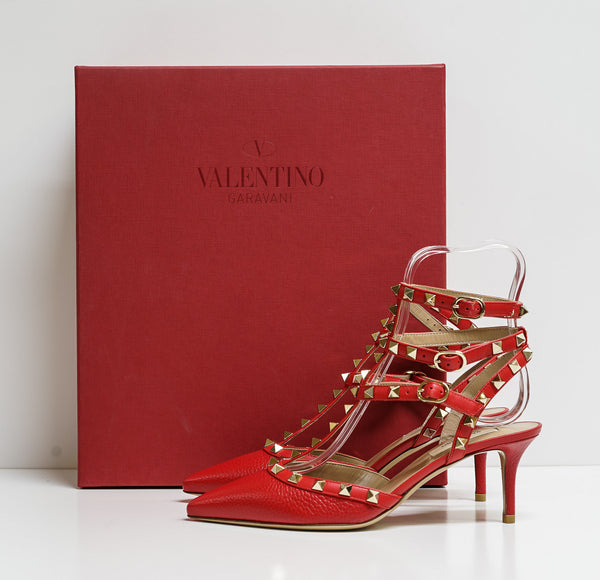 Valentino Garavani Women's Leather Rouge Stud Shoe SW2S0375 - 39 Last Size