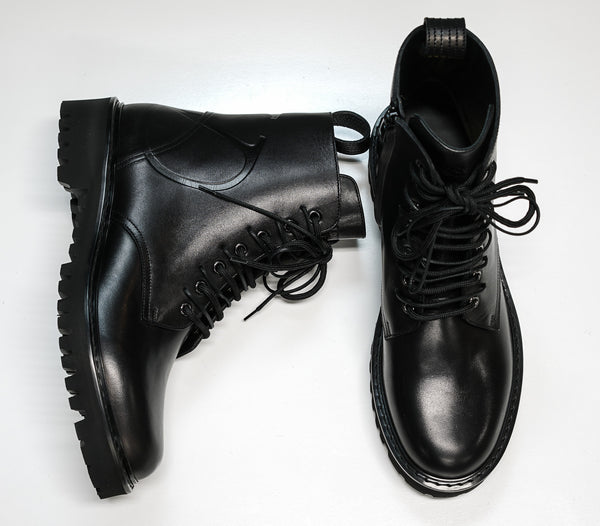 Valentino Men's Black Leather Lace Up Boots SY2S0C03