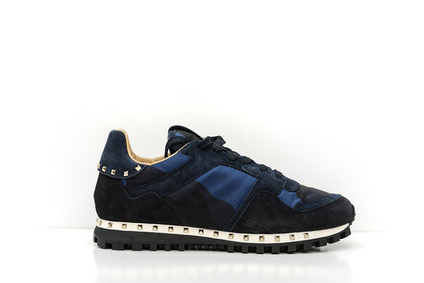 Valentino Men's Blue Stud Sneakers S0952 - 41 Last Size