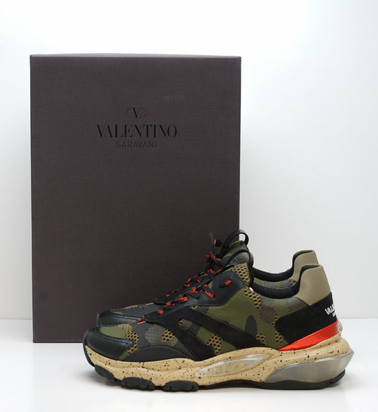 Valentino Men's Green Multi Coloured Sneakers 2SOB05 - 40 EU Last Size