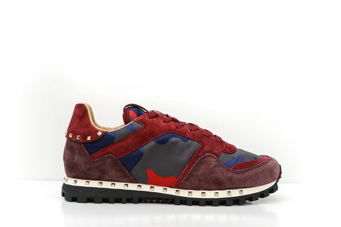 Valentino Men's Red Stud Sneakers S0952
