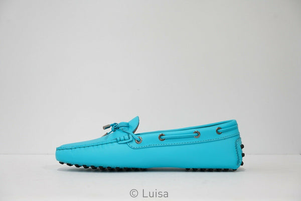 Tod's Women's Turquoise Leather Moccasin W0503