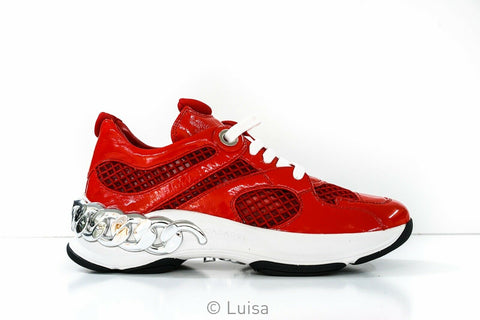 Casadei Women's Red Dynamic Runner 2J849