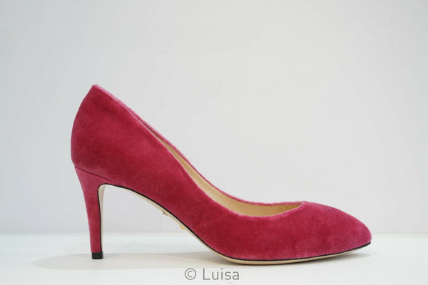 Gucci Ladies Pink Velvet Pump 476027