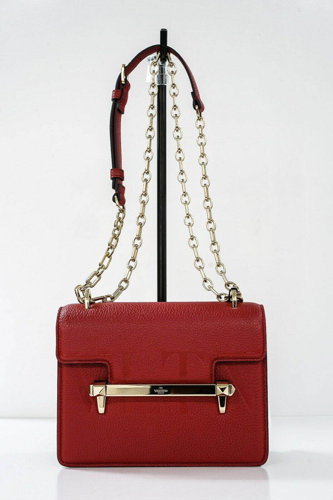 Valentino Red Leather Uptown Bag 4B0C93