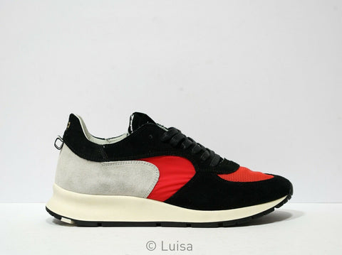 Philippe Model Men's Red & Black Sneakers XT05