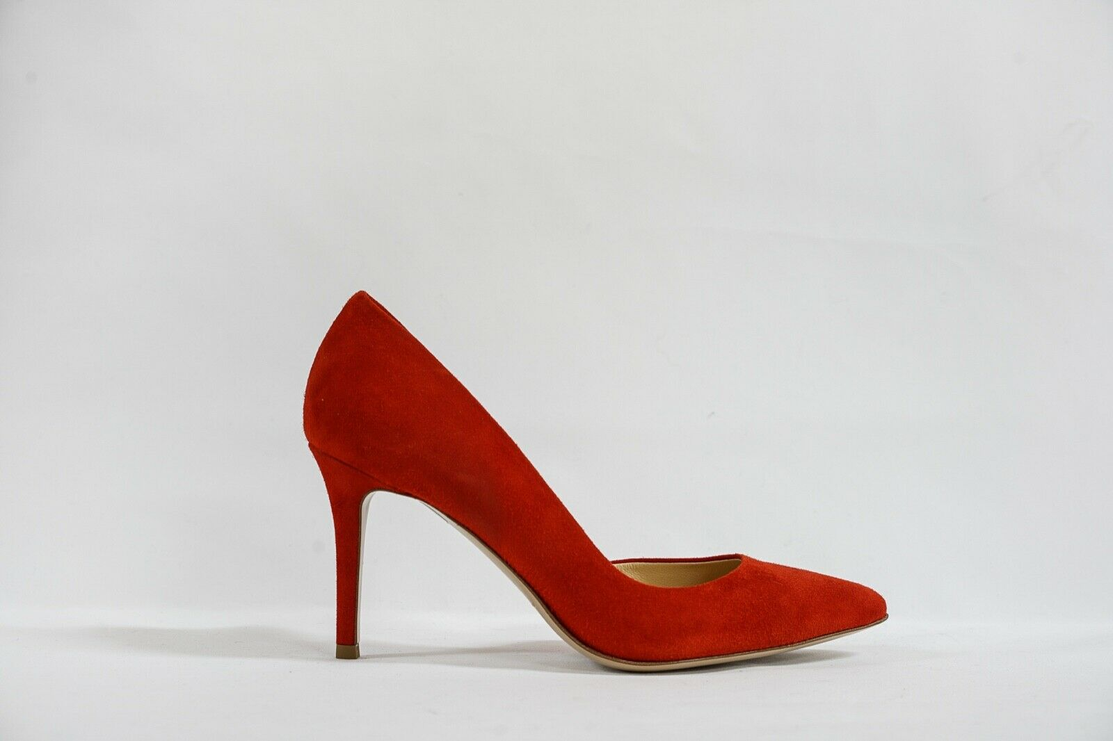 Fabio Rusconi Women's Red Suede Side Cut Out Heel Milito