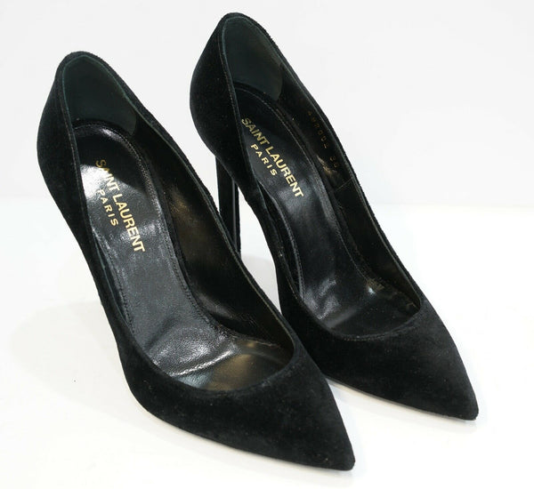 Saint Laurent Black Velvet Ania Pump 492952