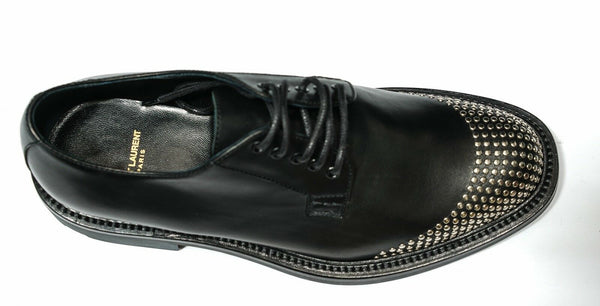 Saint Laurent Men's Black Stud Lace Up 442265