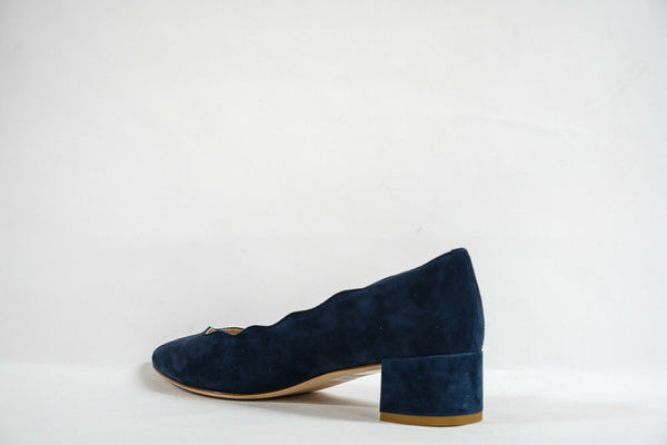 Fabio Rusconi Women's Blue Suede Court Heel S4080