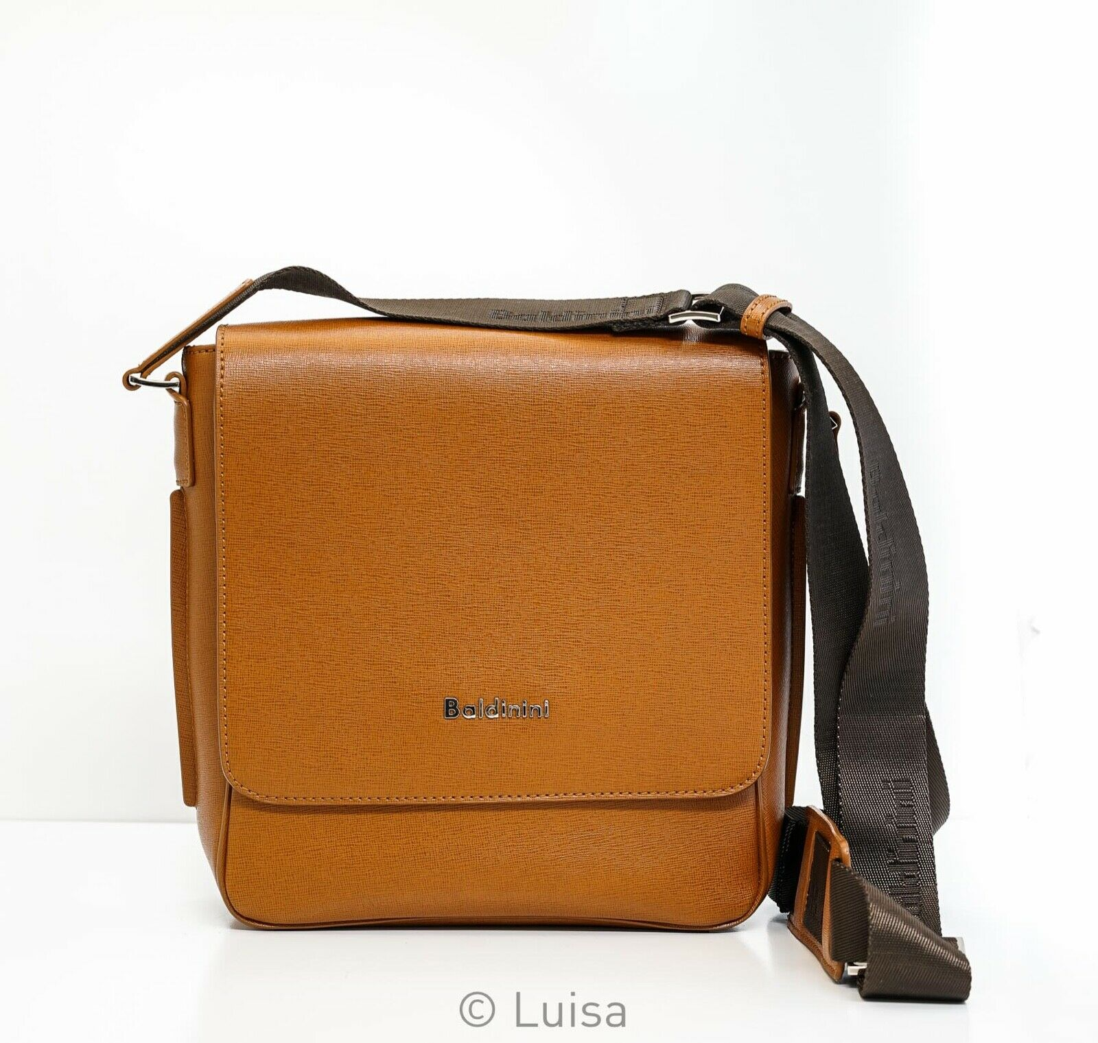 Baldinini Tan Leather Flap Satchel 422017S1