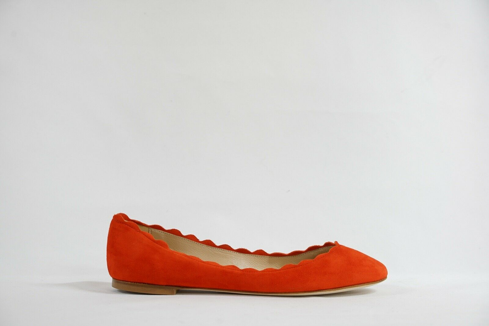 Fabio Rusconi Women's Suede Orange Ballerina Flat Shoe S1795