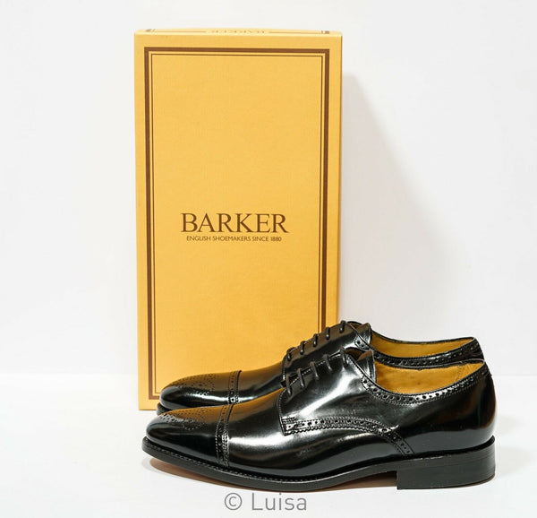 Barker Men's Black Leather Lace Up Shoe PERTH 376717