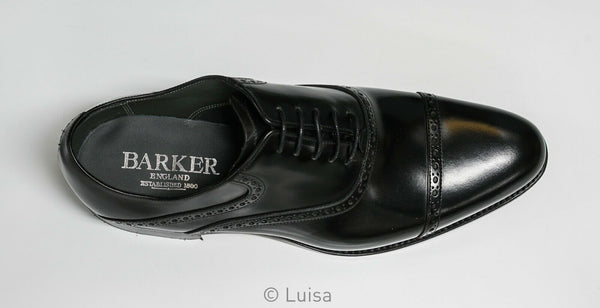 Barker Men's Leather Black Polish Shoe Wilton 394617