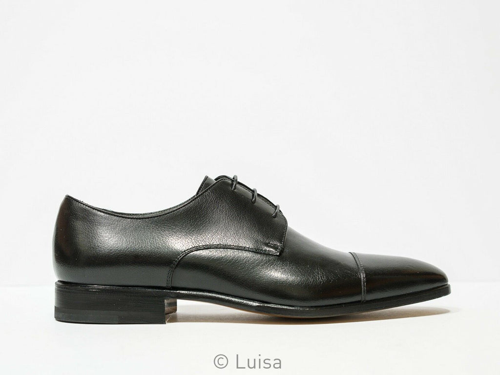 Moreschi Men's Black Leather Lace Up Lipsia