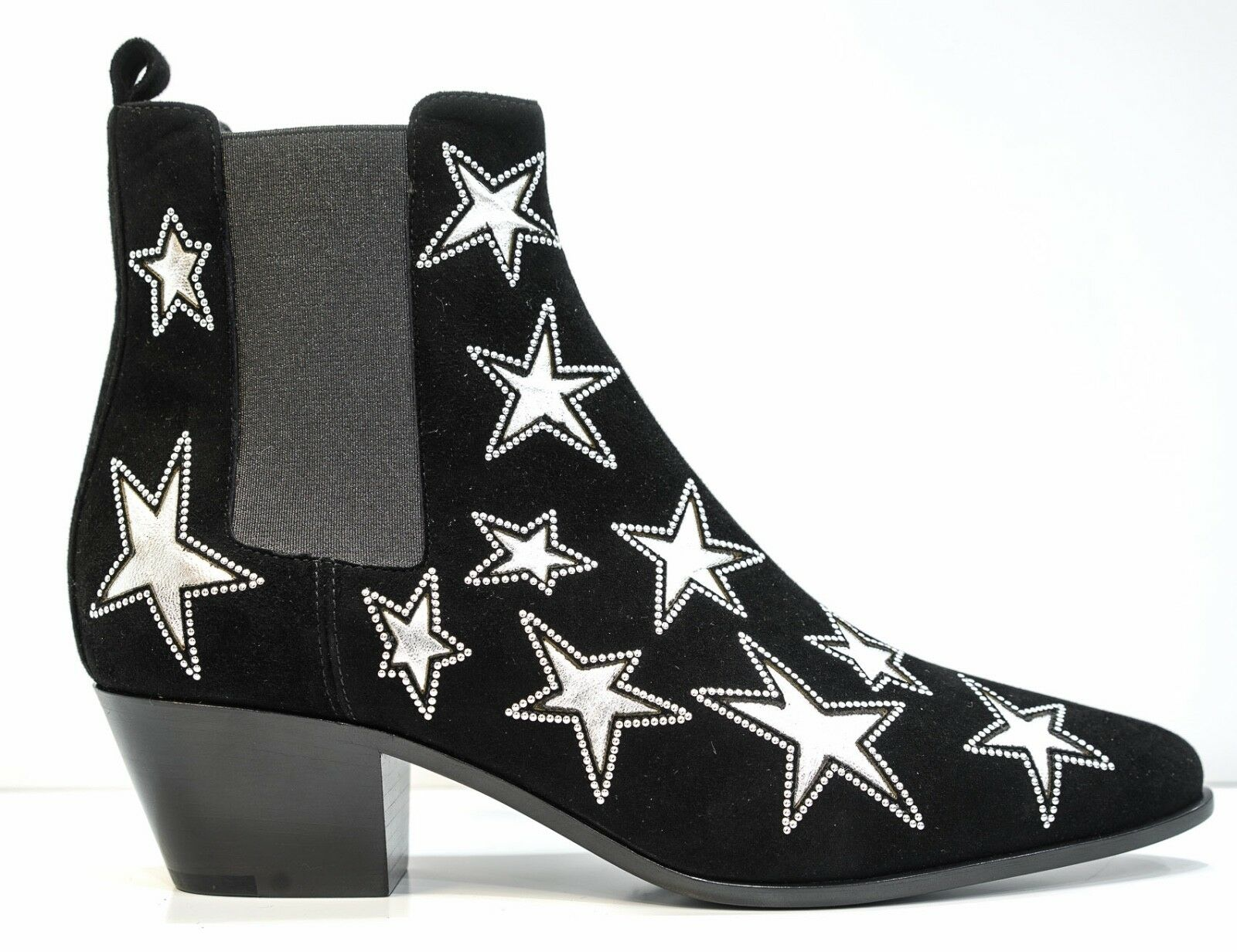 Saint Laurent Ladies Black Star Ankle Boot 447570