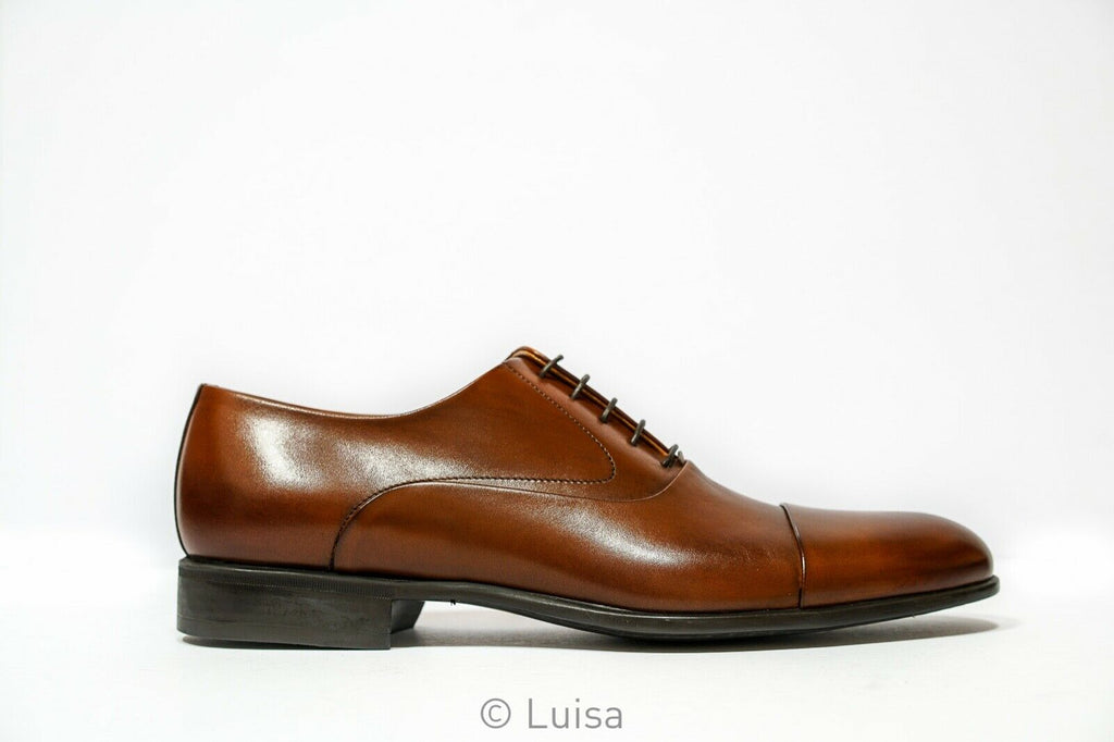 Moreschi Men's Tan Leather Lace Up Dublin