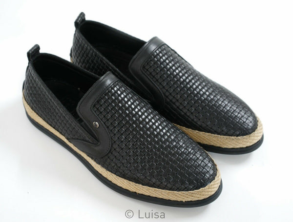 Roberto Serpentini Men's Black Weave Espadrille 1261
