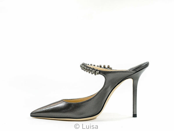 Jimmy Choo Ladies Anthracite Leather BING 100
