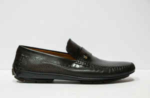 Moreschi Men's Black Perforated Leather Moccasin 040040