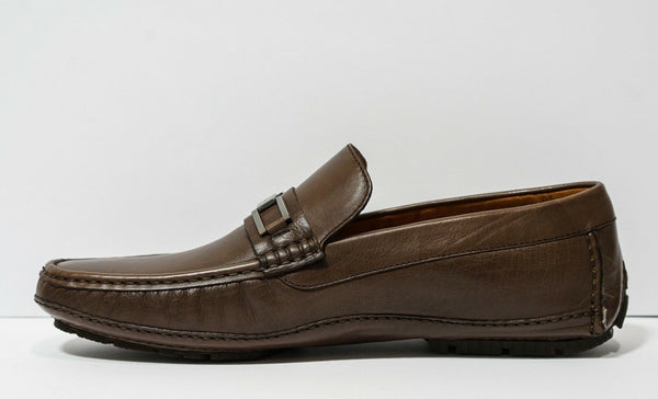 Moreschi Men's Brown/Marrone Leather Buckle Moccasin 040665