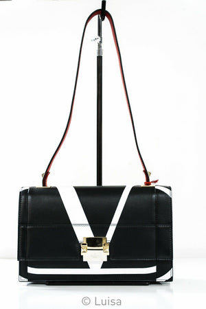 Valentino Black Leather V Bag 4B0D85