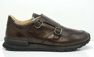 Tod's Men's Brown Leather 2 Buckle Sports Shoe GON540