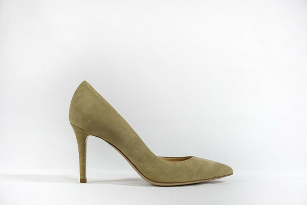 Fabio Rusconi Women's Taupe Suede Side Cut Out Heel Milito