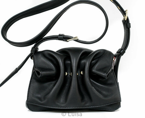 Valentino Black Leather Bloom Small Handbag QW0B0C82