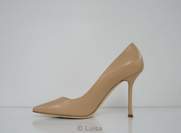 Sergio Rossi Women's Nude Leather Pump A31101