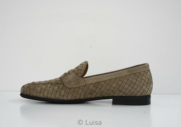 Roberto Serpentini Men's Taupe Woven Loafer 55609