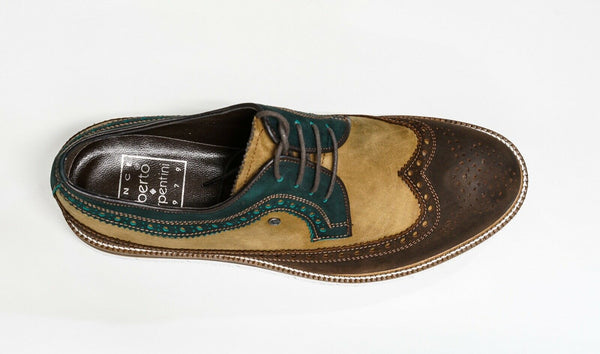 Roberto Serpentini Men's Marrone Multi Colour Suede Detail Shoe 11450