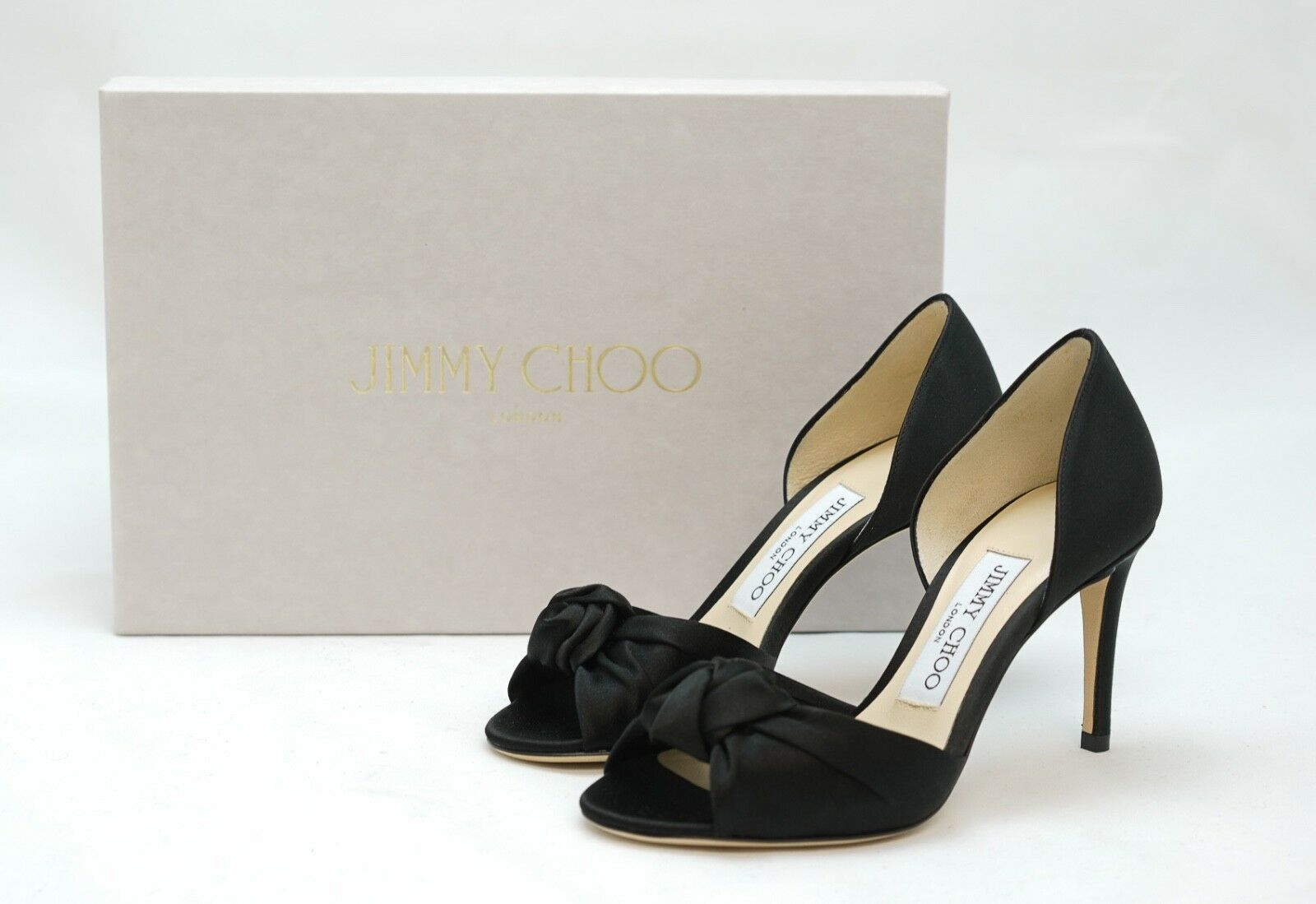 Jimmy Choo Ladies Black Satin Mule KITTY