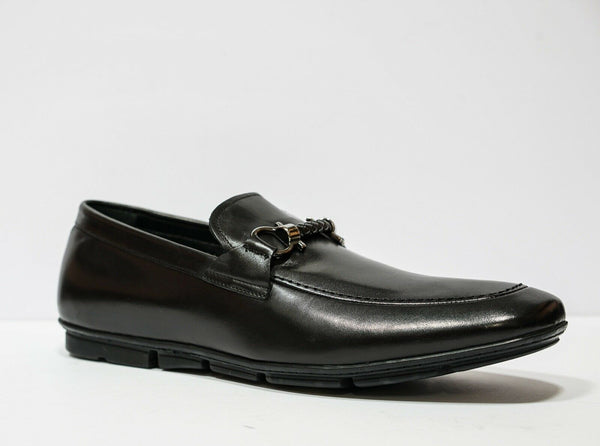 Roberto Serpentini Rope Black Leather Loafer 24232
